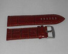 Cinturino large pelle a mano stampa hermes  brown ansa 26 fibbia dorata  b20