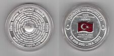 TURKEY - COLORED SILVER PROOF 10 MILLION LIRA COIN 2002 YEAR MUNDIAL 3rd PLACE