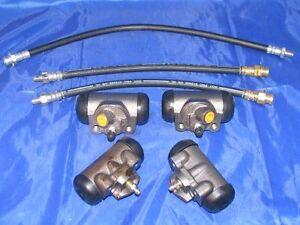 4 Wheel Cylinders & Brake Hoses 1952 1953 Ford Passenger Cars 52 53