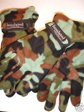 2 Pair Camouflage Gloves Fleece Camo Hunting NEW Thermo Multi-color One Size