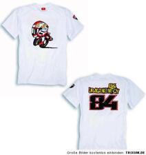 DUCATI Corse Superbike SBK T-Shirt Michel FABRIZIO weiß NEU !!