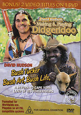 DAVID HUDSON-DVD-Making & Playing Didgeridoo & Bush Tucker, Bush Art, Bush Life