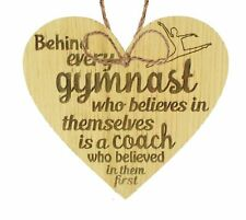 Gymnast Dance Teacher Coach Oak Heart Sign Plaque Thank You Inspirational Gifts