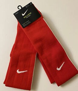 NIKE Women 10-13 Men 8-12 Vapor Knee High Socks Red White 2 Pairs NWT Dri-Fit