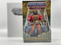 MOTU KING RANDOR Masters of the Universe He-man MOTUC Origins MIB MOC Rare Lot