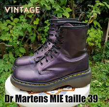 Docs Dr MARTENS Plateforme taille 39 UK6 cuir Aubergine 1460 (Made in England)