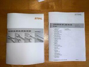 BR SR 340, 420 Back Pack Blower Service Workshop Repair & Part Manual