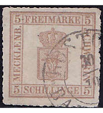 Mecklenburg-Schwerin Nr. 8x gestempelt und geprüft
