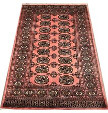 Bokhara Rug in Pink - Original Hand Knotted Oriental Wool Rug 94x162cm -40% RRP