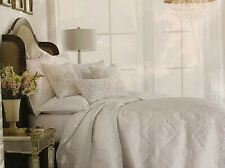HOTEL COLLECTION CLASSIC MEDALLION KING COVERLET QUILTED WHITE $500