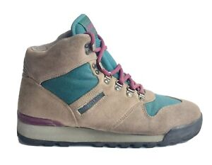 Vintage Merrell Lazer Hiking Boot Womens Size 7.5US 90s Suede GreyLace Up Ankle