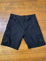 NWT Men's Burnside Outdoor Black Quick Dry Cargo Pocket Shorts ALL SIZES 30-40
