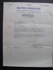 Movie Letterhead Fox Film 6/28/22 The Queen of Sheba Betty Blythe Fritz Leiber