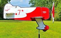 Windspiel Windrad Flugzeug Gee Bee Flieger Windmühle Gartenwindrad Gartenwindrad