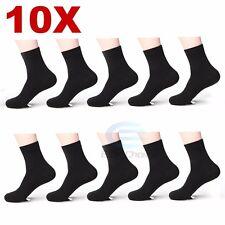 10x Pairs Mens Bamboo Fibre Socks Odor Resistant Sweat Black Natural Comfortable