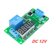 Multifunction Self Lock Dc 12v Relay Time Delay Plc Cycle Timer Module Switch