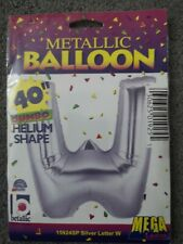 Giant Foil letter Helium W balloon Gold Silver 40 inch wedding party number