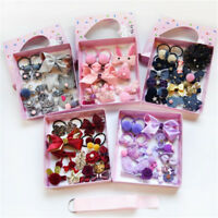 18Pcs Kids Infant Hairpin Baby Girls Bowknot Flowers Motifs Hair Clip Set  pF