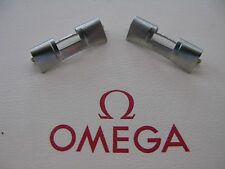 NOS Omega Stainless Steel End Pieces No. 533 x 2 - VERY RARE!!