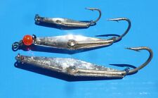Three Clark Spoons sizes 00, 1&2-perfect for mackerel and blues