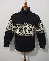 THC Strick Pullover Grösse S Herren Wolle K189