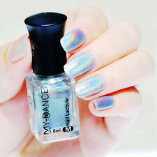 6ml Holographic Nail Art Polish HOLO Laser Varnish Shining Manicure Decoration
