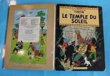 Ancienne Bd les Aventures de Tintin le Temple du Soleil  B38 bis 1969