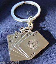 POKER Royal Flush FULL metal Collectible Key chain cosplay :) US SELLER