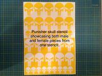 Punisher Stencil Pack, for Duracoat, Cerakote, Krylon!