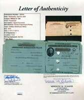 William Taft JSA Loa Hand Signed 1878 Distillary Stamp Autograph