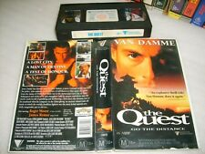 VHS *THE QUEST : JEAN-CLAUDE VAN DAMME* Rare 1996 Australian Roadshow Edition!