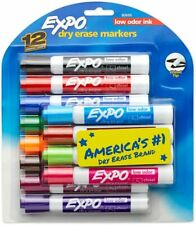 Expo Low Odor Dry Erase Markers Chisel Tip Assorted Colors 12 Count Usa