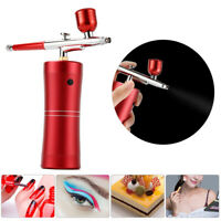 Mini Portable Airbrush Compressor Kit Spray Gun Tattoo Paint Nail Art Air Brush
