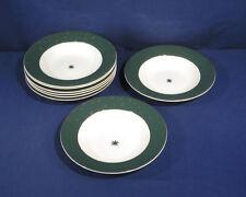 Sakura China GALAXY Green 14k Gold 8 Soup Bowls Mint! New Old Stock Unused!