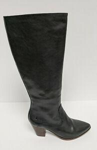 Frye Reed Inside Zip Tall Boots, Black Leather, Women's 8 M
