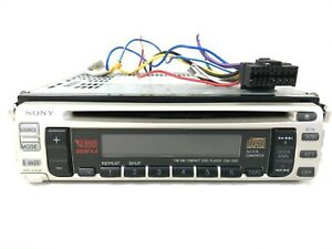 Vintage Sony CDX-1300 Car Stereo AM FM Radio CD Compact Disc Player & Harness