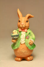 My Bunnies: Pappa Bunny - Green Coat Holding Chick in Egg - Easter