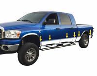 """fits 2002-2008 Dodge Ram Mega Cab Short Bed Rocker Panel Trim 8"""" Stainless Steel"""