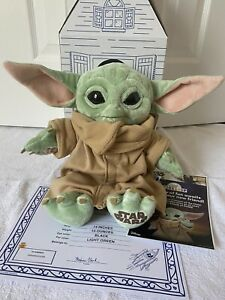 "Build-A-Bear The Child Star Wars The Mandalorian Baby Yoda 14"" W/5-in-1 Sounds"