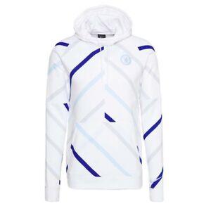 Nike Men's Chelsea FC 2020-21 Fleece Hoodie Sweatshirt White CI9518-100 Size 2XL