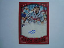 2016 Topps Gypsy Queen Hector Olivera Red Autograph Rookie #'d 4/5  ~ Braves