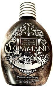 Designer Skin Command Indoor Black Bronzer Tanning Lotion w/ Tattoo Protection