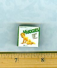 Dollhouse Miniature Size  Baby Diapers Box # 1