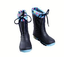 Kids Light Up Wellington Boots Grey Removable Lining Size 5/6  Infant/ 22/23
