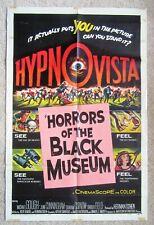 HORRORS OF THE BLACK MUSEUM ORIGINAL 1959 1SHT MOVIE POSTER FLD VG