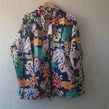Gorman Floral Coral Raincoat Size S/M BNWT
