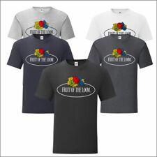 Fruit of the Loom Vintage Large Logo T-Shirt Causal Summer Fashion Tee T Shirt