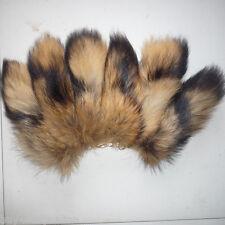 10pcs/lot Real Large Natural Raccoon Tail Fur Keychain Tassel Bag Tag Charm Gift
