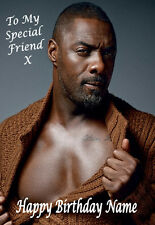 IDRIS ELBA A5 Personalised Birthday Card Any Name / Age, Relative FABULOUS!!! 4