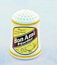 1980 Bon Ami powder porcelain advertising thimble from Franklin Mint